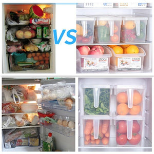 Pull-Out Fridge Storage Boxes Containers Bins