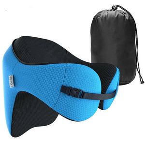6 in 1 Ergonomic Hooded Memory Foam Travel Pillow