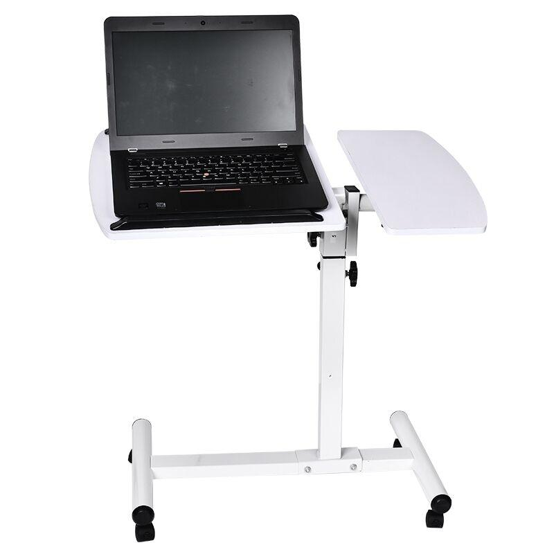 Wheeled Mobile Adjustable Overbed Rolling Laptop Table