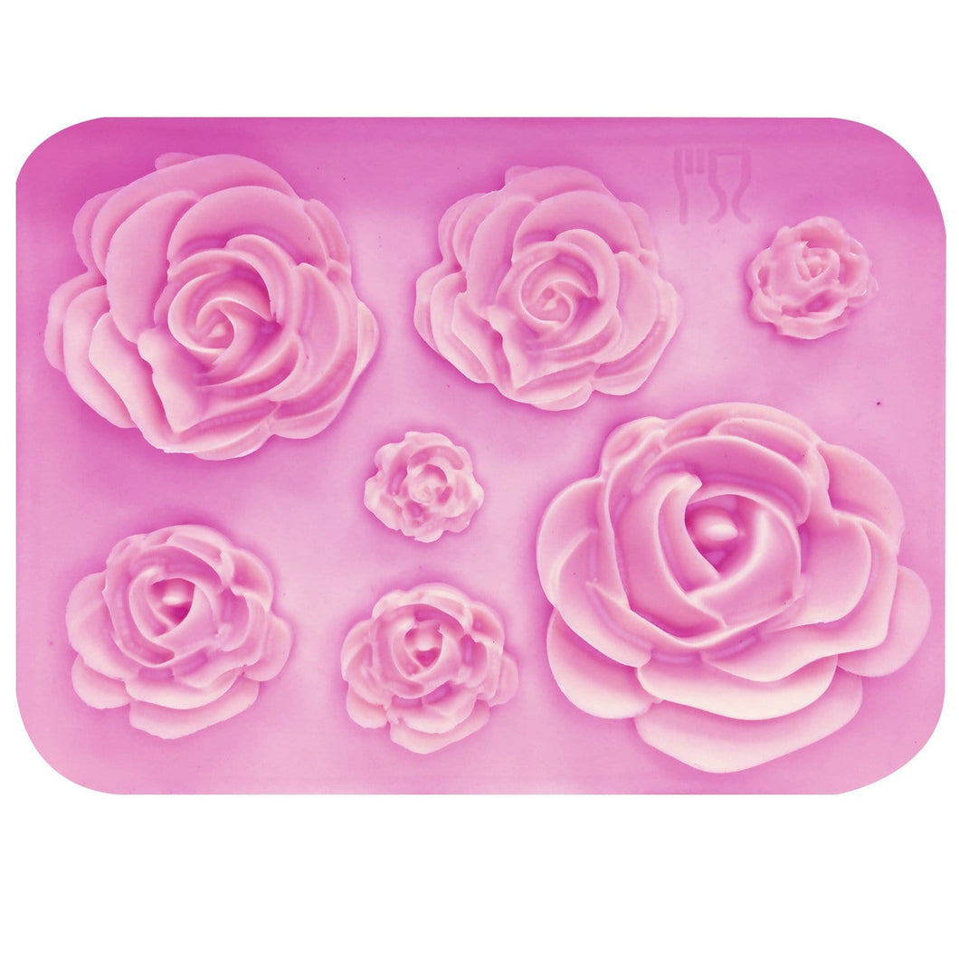 3D Silicone Rose Flower Mold