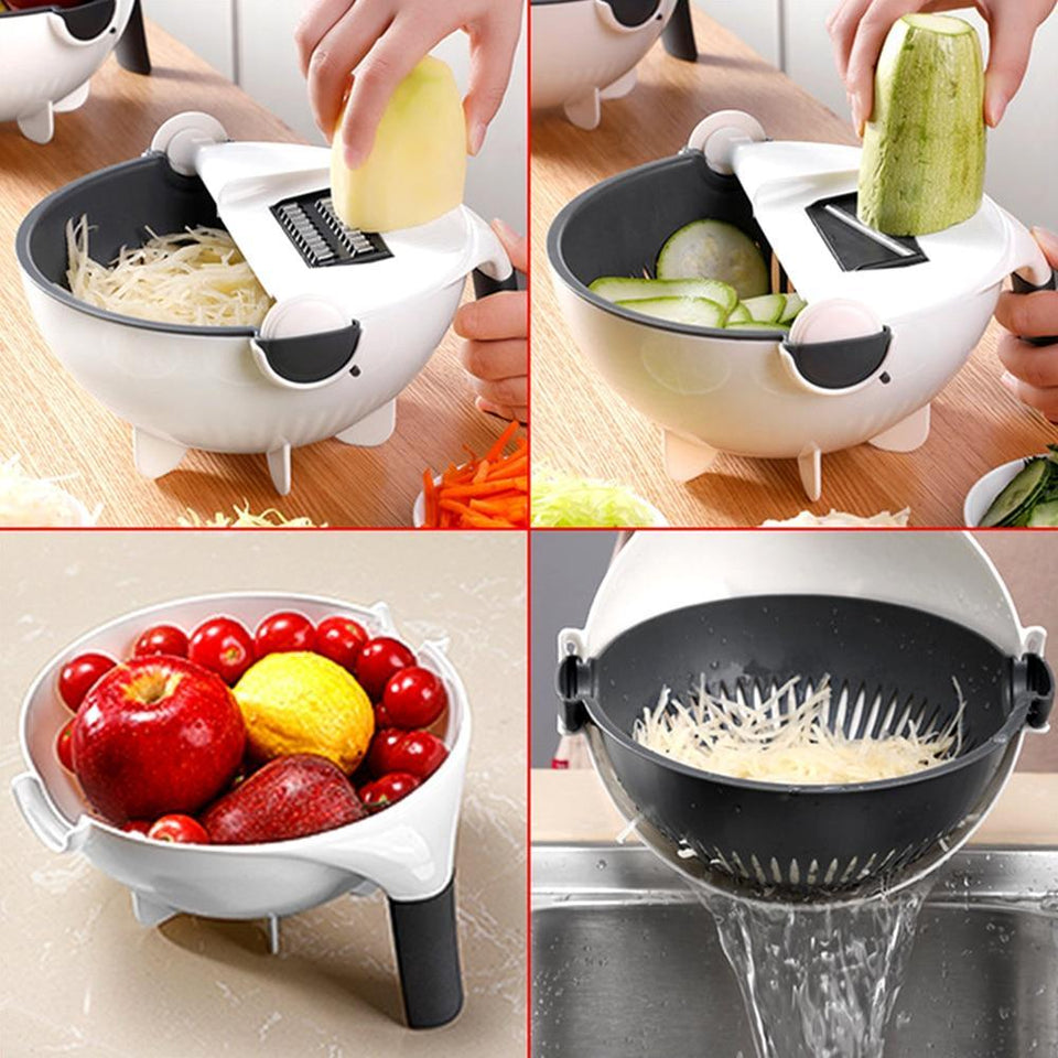 Cut N' Drain Veggie Chop Slicing Bowl