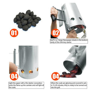 Fire Starter Charcoal Chimney Igniter Bucket