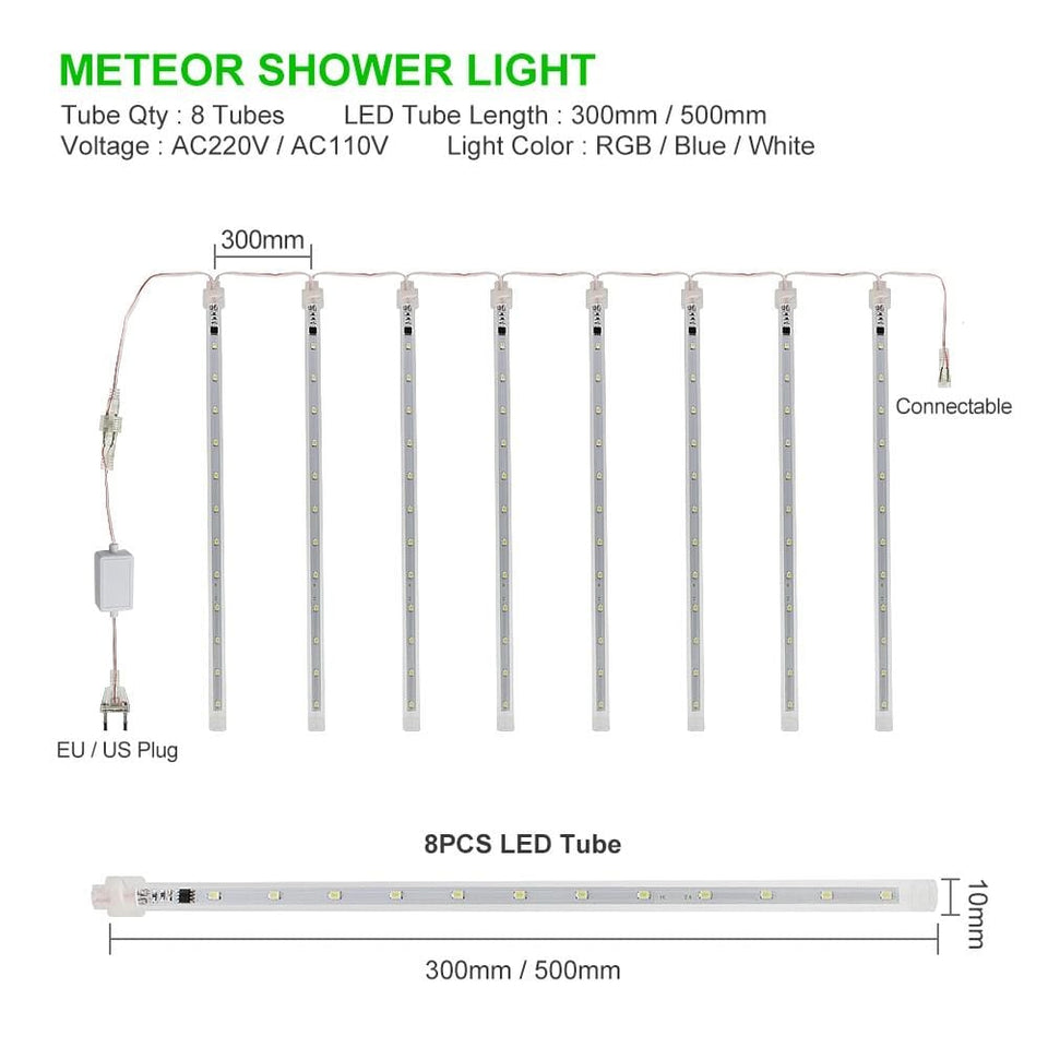 Best Cascading LED Meteor Rain Waterproof Drop Lights