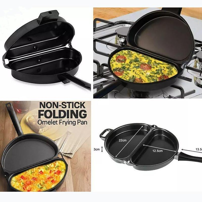 Best Double-Sided Hinged Folding Omelette Pan