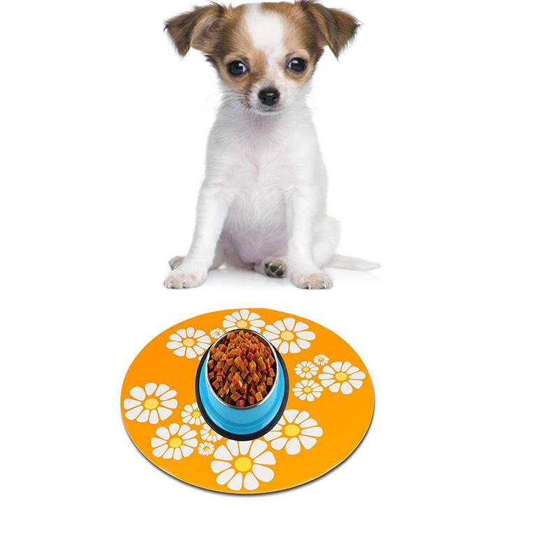 Silicone Pet Water Fountain Feeding Placemat