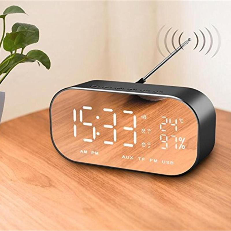 LCD Reflective Clock Radio