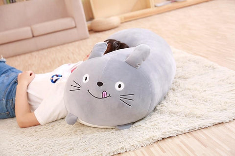 Chubby Animal Body Plush Pillows