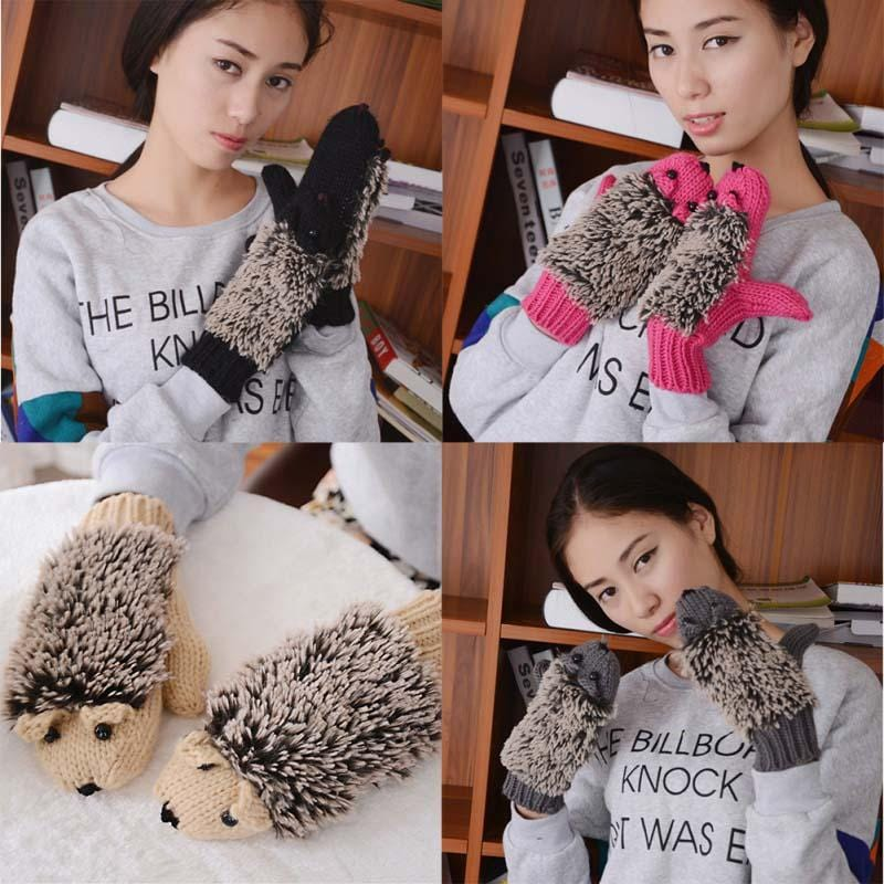 Cute Hedgehog Mittens
