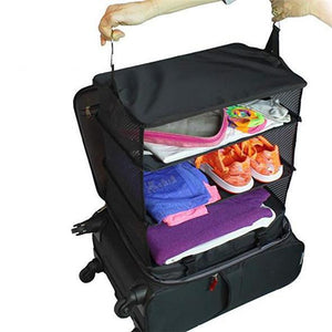 Convenient Travel Hanging Suitcase Shelf Garment Bag