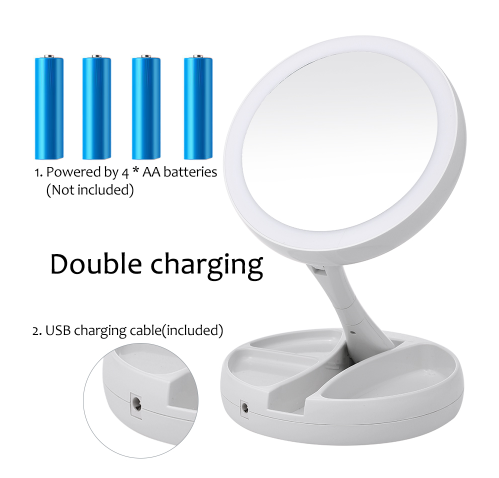 Best Lighted Folding Magnifying LED Makeup Vanity Mirror