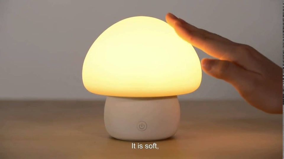LED Light Mushroom Night Lamp