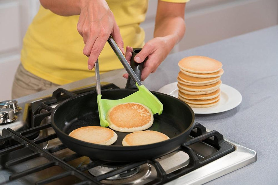 2-in-1 Clever Spatula Tongs Silicone Combo