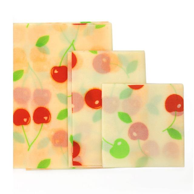Best Eco-Friendly Reusable Beeswax Kitchen Wraps Set of 3