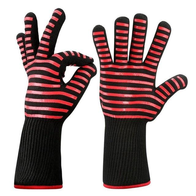 Heat-Resistant Non-slip Silicone Kitchen BBQ Gloves
