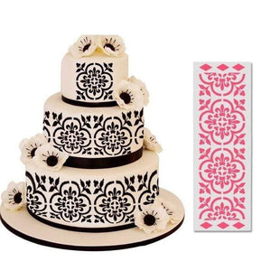 Cake Lace Icing Fondant Embossing Stencils