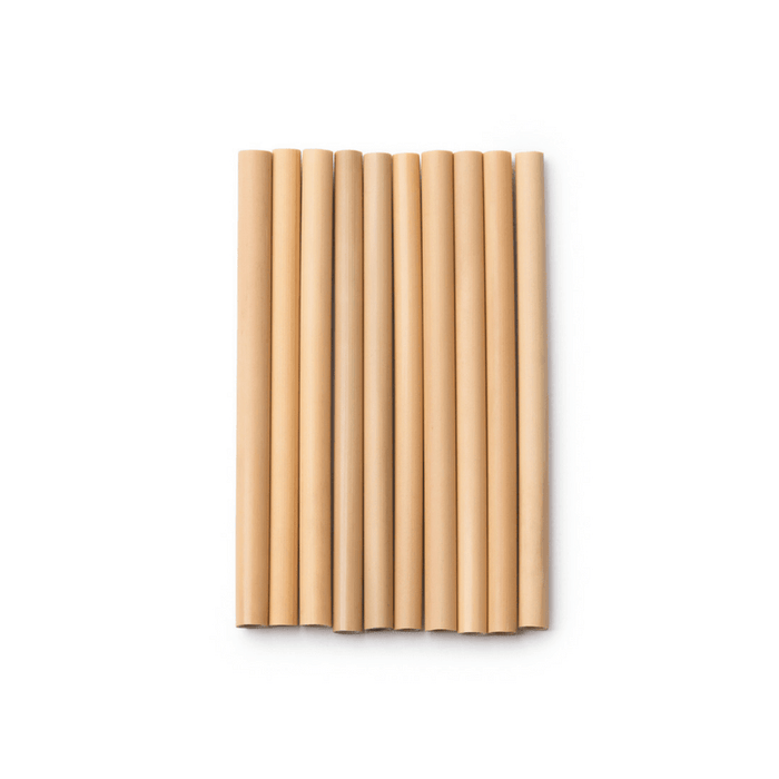 Bamboo Straws - Set of 10