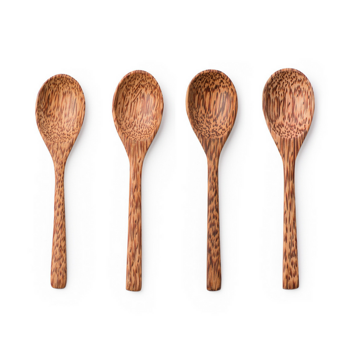 Wooden Coconut Spoons - Set of 4