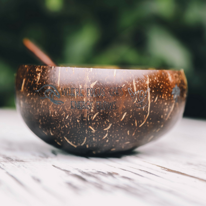 "Earthy Andy Bundle ""Jumbo"" Coconut Bowl and Spoon"