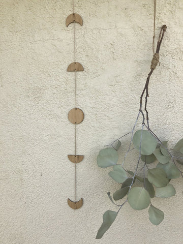 Bamboo Luna Phase Wall Hanging or Garland