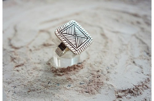 Stamped square ring