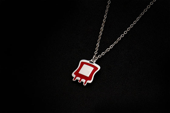 Phlebotomist Blood Bag Pendant Necklace