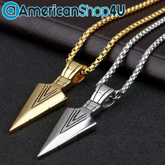 Archery Men's Alloy Arrow Pendant Necklace H2