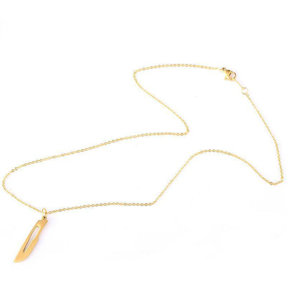 Surgical Technologist Gold/Silver Stainless Steel Scalpel Necklace