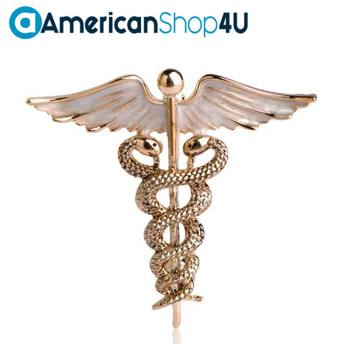 Physician Assistant Enamel Caduceus Brooch H2