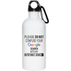 Google Nutritionist 20 oz. Stainless Steel Water Bottle