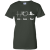 Live Love Heal Physical Therapy PT Ladies' 100% Cotton T-Shirt