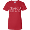 Breath Live Love Respiratory Therapist Ladies' 100% Cotton T-Shirt