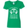 Not A Masseuse Massage Therapist  Ladies' 5.3 oz. V-Neck T-Shirt