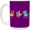 Massage Therapist- 15 oz. White Mug- Peace
