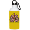 Respiratory Therapist I Clean Lung 20 oz. Stainless Steel Water Bottle