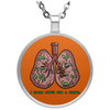 Respiratory Therapist I Clean Lung Circle Necklace