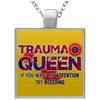 EMS- Paramedic- Square Necklace- Trauma
