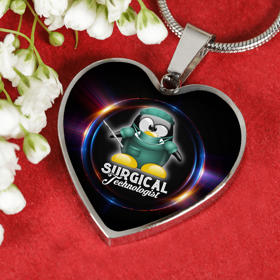 Surgical Technologist- Heart Necklace & Bangle- Penguin