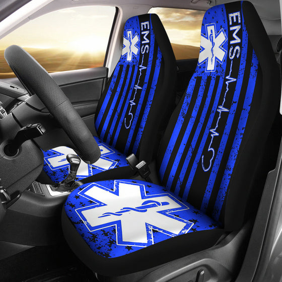 EMS- PARA- EMT- CAR SEAT COVERS- FLAG