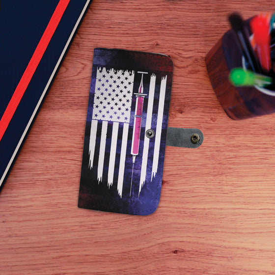 Phlebotomist- Wallet Case- Flag