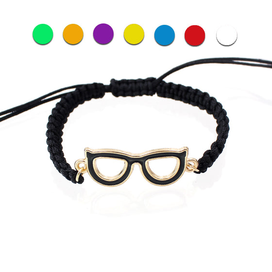 Optometrist Multi-Color Glasses Charm Bracelets Jewelry T1