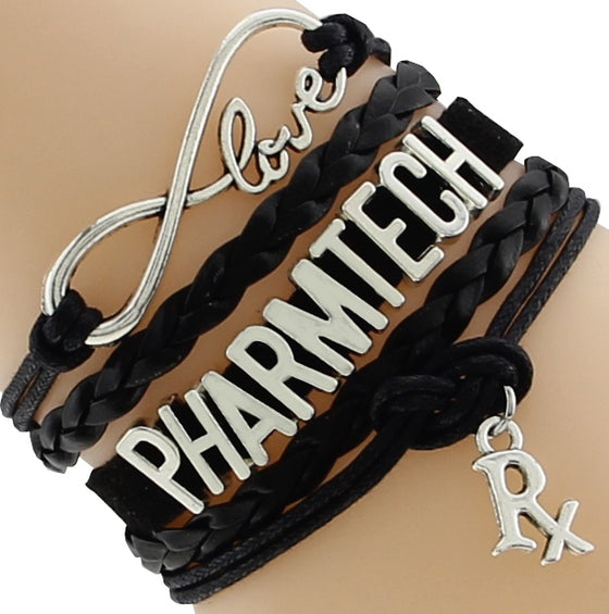 Pharmacy Technician Infinity Love Rx Bracelet