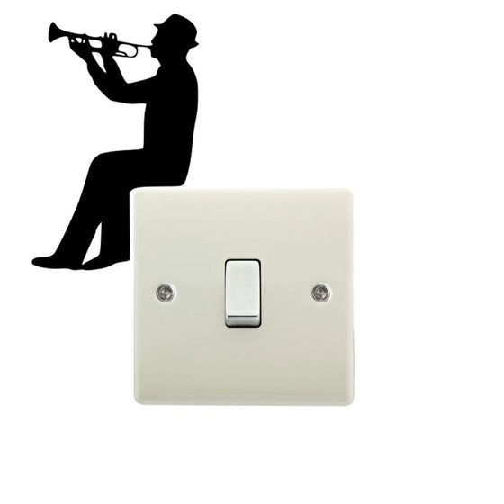 Trumpet Man Playing Trumpet Sticker T1