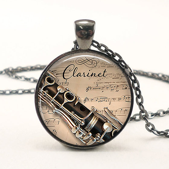 Round Clarinet  Necklace