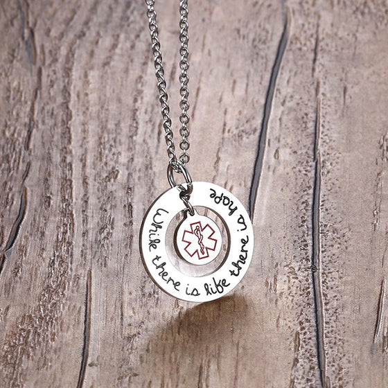 EMS- Paramedic/ EMT- There Is A Hope Necklaces & Pendants