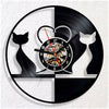 Veterinarian- Black and White Lovely Cat Vinyl Wall Clock