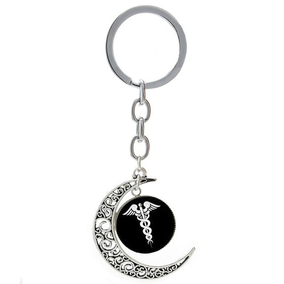 Physician Assistant Medical Symbol Key Chain H2