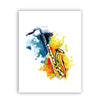Saxophone Canvas Art Print Poster