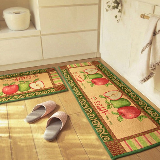 Registered Dietitian/ Nutritionist Apples Anti-Slip Kitchen Carpet 3 Sizes
