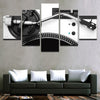 Silver DJ CANVAS 5pcs