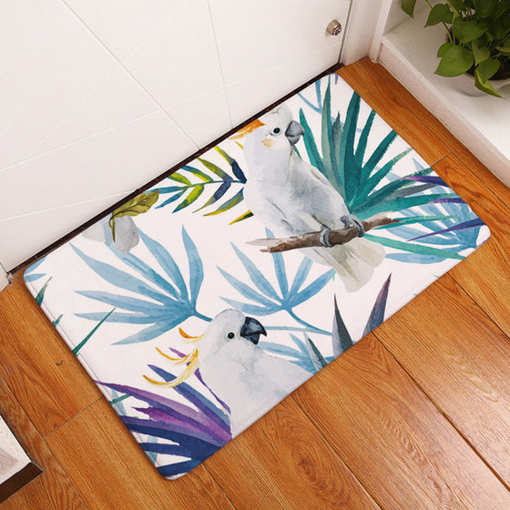 Colorful Painting Parrot Birds Carpets Rugs